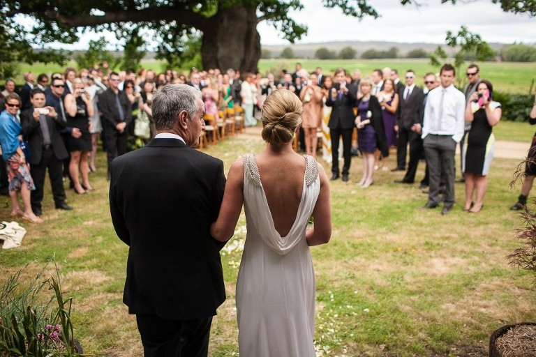 Click here to view the wedding gallery. Image of bride and father by Ben Marden